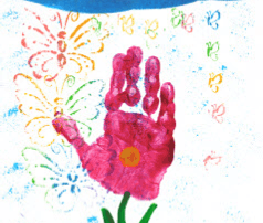 Hand Stamp Painting - Lesson Plan
