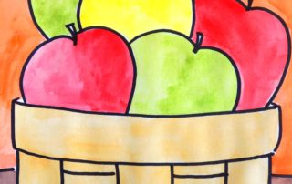 Apple Perspective Lesson Art