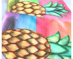 Realistic Pineapple Art