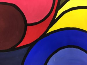 Abstract Color Mixing Art