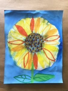 Sunflower Art Lesson