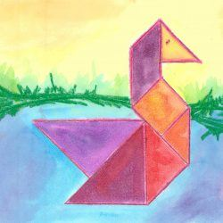 STEAM Lesson Plans - Tangram Animal Art